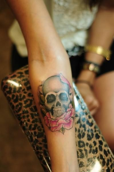 Great forearm tattoos pictures for Pretty skull tattoos